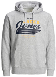 Férfi sportfelső JJELOGO SWEAT 12173959 Light grey Melange