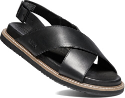 Dámske kožené sandále LANA CROSS STRAP SANDAL 1022584 Black/Black