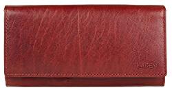 Dámska červená kožená peňaženka