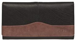 Dámska kožená peňaženka Black / Brown PWL-367
