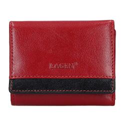Női bőr pénztárca Red/Blk