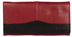 Portafoglio da donna in pelle color rosso /Black PWL-367