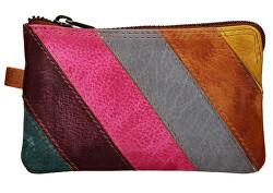 Női mini bőr pénztárca-kulcstartó