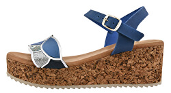 Dámske kožené sandále 54083/MC-6 Ondas Azul / Sport Electric Mc Beige