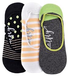 3 PACK - dámske ponožky Low socks S19 H / Anthracite