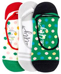 3 PACK - dámske ponožky Low socks S19 K / Green
