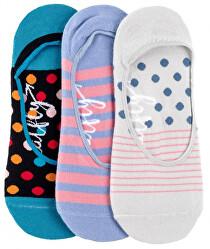 3 PACK - dámske ponožky Low socks S19 I / Blue