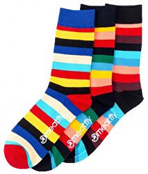 3 PACK - zokni Stripe socks S19 Multipack