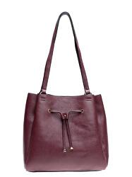 Dámska kožená kabelka AW20MG1666 Vínová