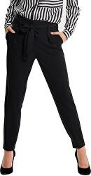 Női nadrágNicole Paperbag Ankle Pants Wvn Noos Black