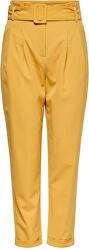 Női nadrág ONLSICA HW PAPERBAG PANTS PNT Spruce Yellow