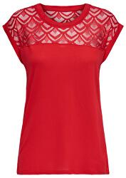 Tricou pentru femei ONLNICOLE S / S TOP MIX Noos High Red Risc
