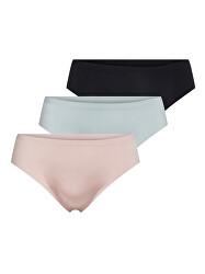 3 PACK - dámske nohavičky ONLTRACY