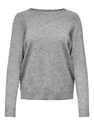 Női pulóver ONLLESLY 15170427 Medium Grey Melange