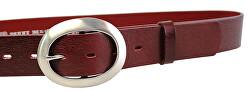 Cintura da donna in pelle rosso scuro
