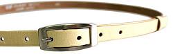Cintura da donna in pelle beige