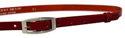 Cintura da donna in pelle rossa
