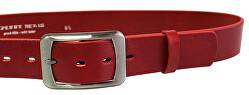 Cintura da donna in pelle rosso