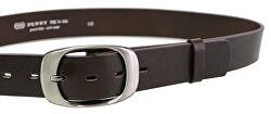 Cintura da donna in pelle marrone scuro