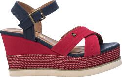 Dámské sandále Red Textile Ladies Sandals