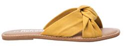 Dámske šľapky Yellow Microfiber Ladies Sandals