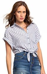 Dámska košeľa Full Time Dream Mood Indigo Lago s Stripe s