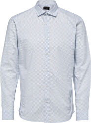Pánska košeľa SLHSLIMCODEN SHIRT LS MIX B White Stripe s