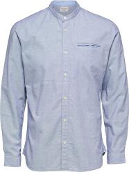 Pánská košile SLHSLIMLAKE SHIRT LS MIX W Bright White Structure