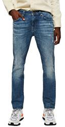 Pánské džíny SLHSLIM-LEON 6219 M.BLUE CAND ST JEANS W Medium Blue Denim