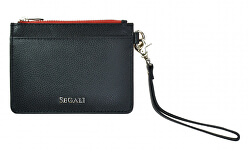 Kožená mini peňaženka-kľúčenka