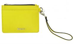 Kožená mini peněženka-klíčenka