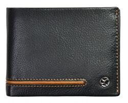 Pánska kožená peňaženka 753 115 026 black/cognac