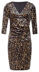 Dámské šaty 19855 Gold/Black