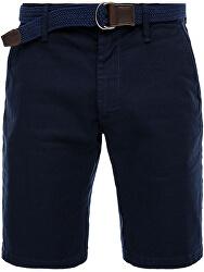 Pantaloni scurți pentru bărbați cu centură 03.899.74.5259 noapte Blue