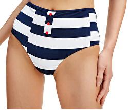 Dámske plavkové nohavičky Broken Str - Pitch Blue High Waist Bikini