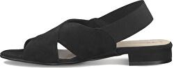 Dámske kožené sandále 1-1-28017-34 -001 Black