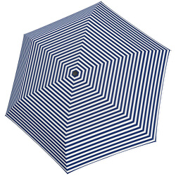 Dámsky skladací dáždnik Tambrella Light Stripe blue