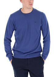 Maglione da uomo Round Neck Navy Blue