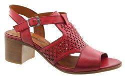 Dámské kožené sandále Red