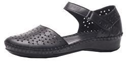 Dámské kožené sandále Black