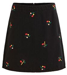 Dámska sukňa VIDAHLA HW NEW EMB DENIM SKIRT / L Black Embroidery