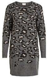 Dámske šaty VILIDI KNIT L / S DRESS / L Medium Grey Melange LEO IN MGM W lurexom