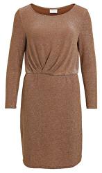 Dámské šaty VILOUIANA L/S DRESS Toffee W Silver Fiber