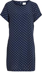 Dámske šaty VIPRIMERA S / S DRESS-FAV LUX Navy Blaze r SNOW WHITE DOT 0.5 CM