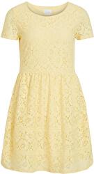 Dámske šaty VISULACEY S / S DRESS / SU Mellow Yellow