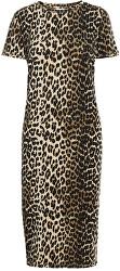 Rochie pentru femei VMGAVA SS AOP DRESS VMA Oatmeal LEOPARD