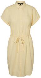 Női ruha VMHEAVEN SL ABK SHIRT DRESS WVN Banana Cream SNOW WHITE