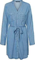 Rochie pentru femei VMSAFFI LS SHORT DRESS GA Light Blue Denim