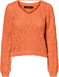 Női pulóver VMDEYRA LS V-NECK BLOUSE Coral Rose