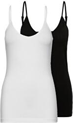 2 PACK - Maieu pentru femei VMMAXI 10238880 Bright alb